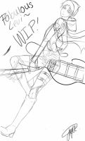 Sketch:Levi is FAB by SinfulHime