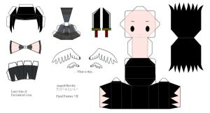 Final Fantasy VII Papercraft - Angeal by Larry-San