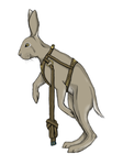 Radagast's running hare by kjomi
