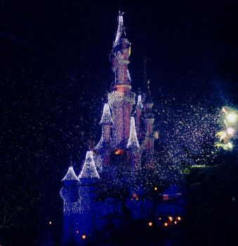 Castle under a snowstorm by Mlle-Dreamer