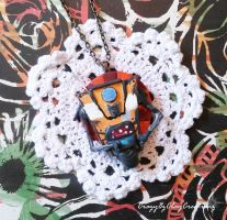 ClapTrap Necklace (CL4P-TP) by Crazy8zCharmz