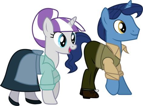 Twilight Velvet as Anita and Night Light as Roger by CloudyGlow