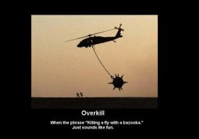 "Demotivator ""Overkill"" by Absolutlynolife"