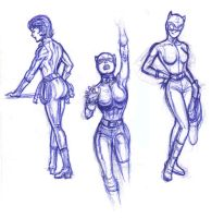 catwoman sketches by xryss