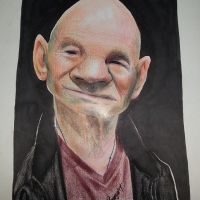 Caricature of Patrick Stewart by bakaneko-kun