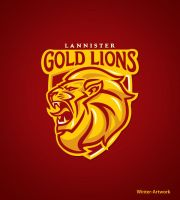 Lannister Gold Lions by Winter-artwork