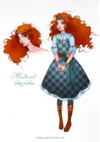 Merida and lolita fashion by Moon-In-Milk