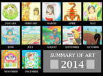 Summary of Art 2014 by Rufina-Tomoyo