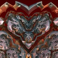 A heart of steel is always... by MANDELWERK