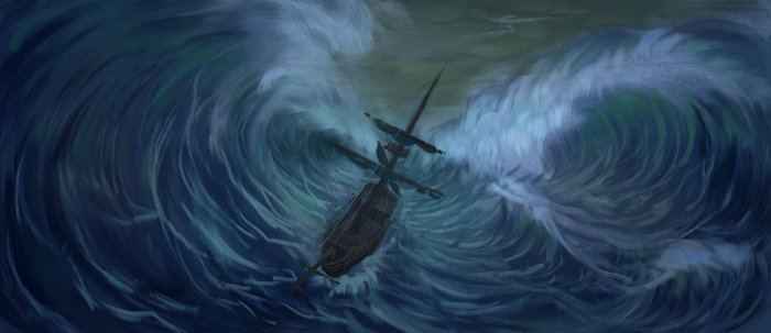 The Crushing Waves by Mandilor