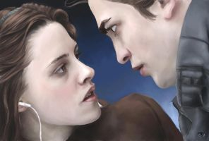 Twilight:Edward and Bella WIP2 by DizzyEmotions
