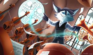 Maxwell, the Virtuoso Musician by ArtKirby-XIV