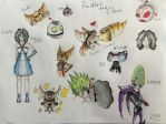 Ratchet and Clank sketch dump by The-Angel-Deoden