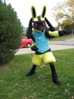 Shiny Lucario Cosplay 1 by LysanderxX