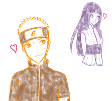 Orange Boy and Purple Girl by Ayat-Chan