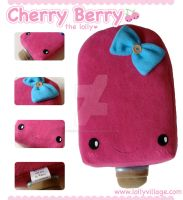 Cherry Berry the Plushie Lolly by fuzzy-jellybeans