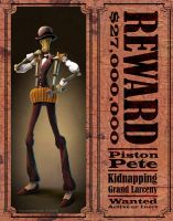 Wanted Robot: Piston Pete by 47ness