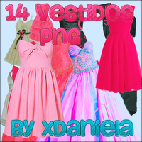 dresses pack 14 vestidos png by xDaniela