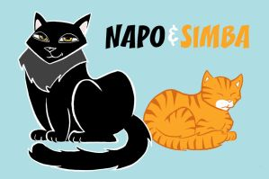 Napo and Simba by mattcantdraw