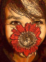 flower face smile by musicboxdancr