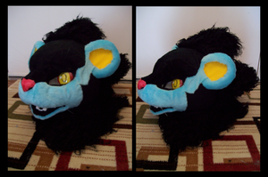Luxray - head by kitsunilla
