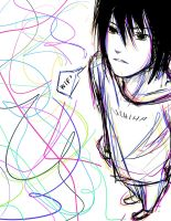 Sasuke- Squiggly Lines by Immature-Child02