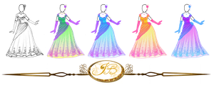 Outfit Design : Flowery Ballgown colored version by JessyB-Design