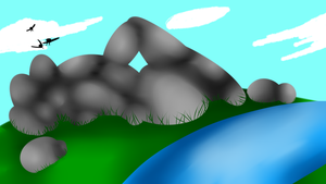 Sunning rocks by Sush1Doodle