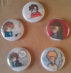 Sherlock Badges by AnnoyinglyCute