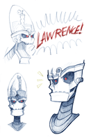 + Sketch - Ratchet and Clank: Nefarious's Heads + by Yore-Donatsu
