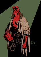 Hellboy by Girl-on-the-Moon