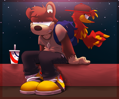 Banjo and Kazooie's Teen Years by Wolfiisaur