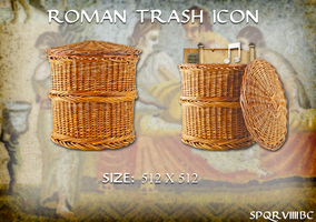 Roman Trash Icon (Mac OS X) by SPQR63BC