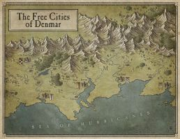 The Free Cities of Denmar by MaximePLASSE