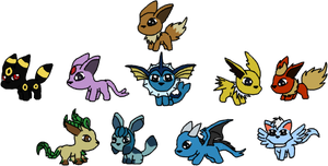 Super Chibi Eevee Evolutions by VampVixen
