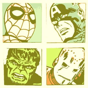 Marvel Comic's pop art 3 by DevintheCool