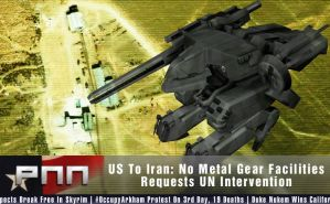 No Metal Gears For Iran Graphic by Snakesan