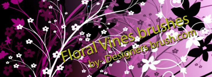 Floral vines Photoshop brushes by designersbrush