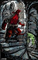 Hellboy in Hell by didism