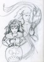 Kolle and Eryn Halloween 2012 by dragondoodle
