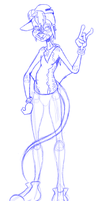 Character trade for Kero WIP by flammingcorn