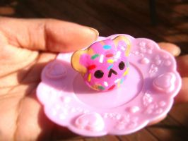 Teddy Bear cookie ring by SprinkleChick
