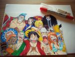 Strawhat with Copic (: by OpSayu
