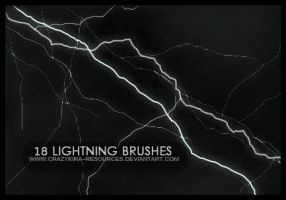 Lightning Brushes by crazykira-resources