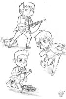 Winchester Men Chibi Sketches by PredieNerdie