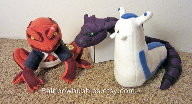 Commission- Gamabunta, Manda, and Katsuyu fanplush by Rainbowbubbles