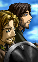 Aragorn and Boromir by famira
