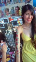 Painted my arm at Red Poppy Fest 2015 by thejoannamendez