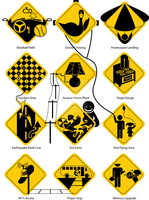 Interactive Road Signs by BlindFaeth