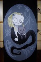 Lenore painting by JigokuHana